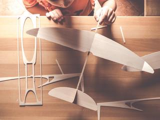 balsa wood airplane kits or flying toys