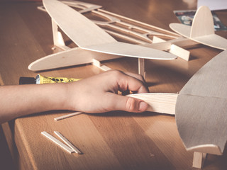 balsa wood aircraft model