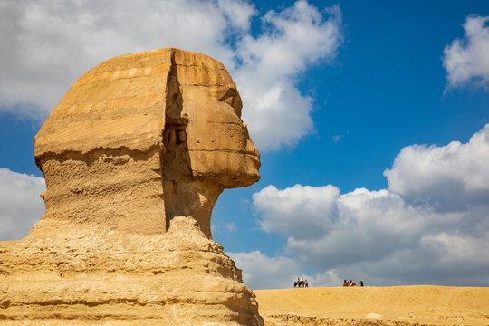 The head of the Great Sphinx of Giza