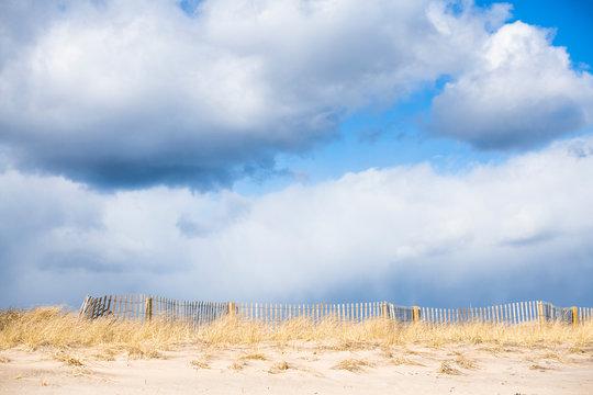 Sunny Beach on a Partly Cloudy Day