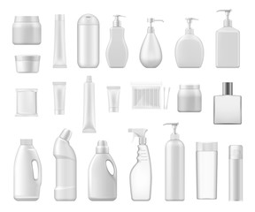 Cosmetic containers and chemical plastic bottles