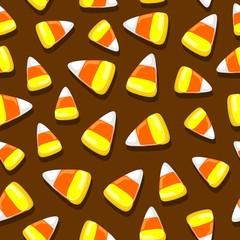 Foto auf AluDibond Ziehen Halloween Candies Festive Seamless Vector Textile Pattern