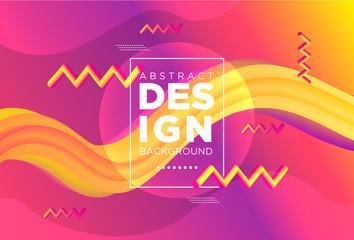 Creative modern design 3d flow shape. Liquid wave backgrounds