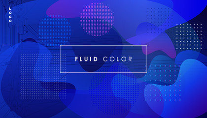 Abstract fluid color ultraviolet blue dynamic background vector banner concept connection landing page web dynamic digital gradient software flyer brochure neon poster technology modern temp wallpaper