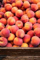 Peaches at farmer's market