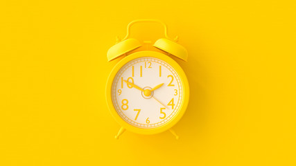 Yellow Clock. Fototapete