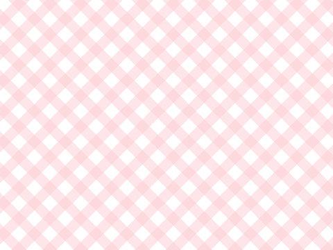 斜めギンガムチェック ピンク