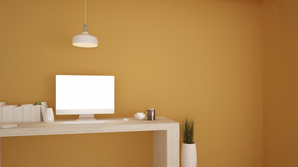 Wall Mural - work space - Artwork concept Pastel color background