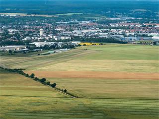 vue aérienne de Dreux dans l'Eure-et-Loir en France