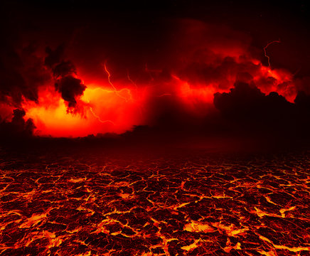 the surface of the lava. background