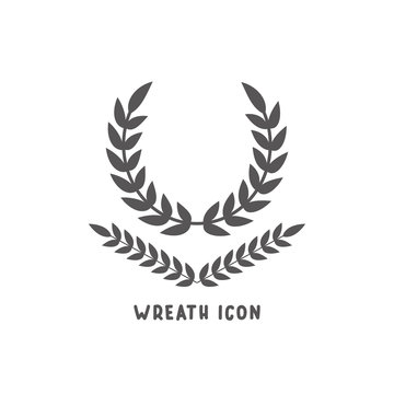 Wreath icon simple flat style vector illustration.