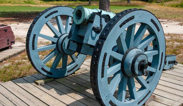 Yorktown cannon in blue