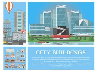 Flat City Colorful Concept
