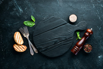 Wall Mural - Cooking background and other ingredients. Top view. Flat lay composition Free copy space.
