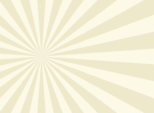 Sunlight background. beige burst background with white highlight.