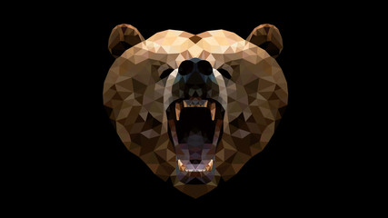 Geometric Animal - Bear wallpaper