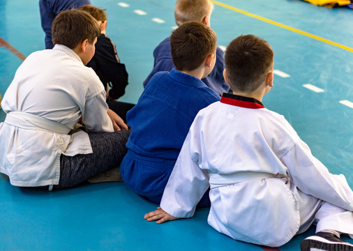 young athletes in hand-to-hand combat competitions