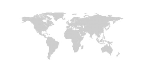 Continents in points. Planet Earth in pixels. Gray background.