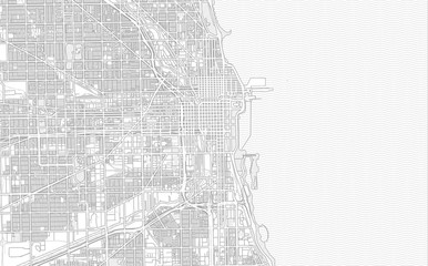 Chicago, Illinois, USA, bright outlined vector map