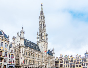 Türaufkleber Brussel BRUSSELS, BELGIUM - August 27, 2017: Grand Square in Brussels city