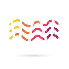 colorful waves icon- vector illustration