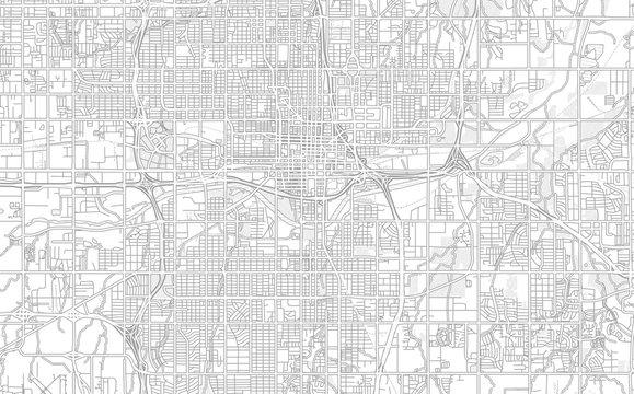 Oklahoma City, Oklahoma, USA, bright outlined vector map