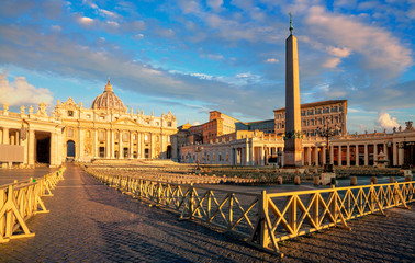 St. Peter's Basilica in Rome. Vatican City Rome Italy. Rome architecture and landmark. Italian Renaissance church.