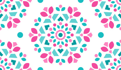 Colorful Ornamental Pattern. Endless Background. Seamless Fototapete