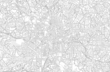 Atlanta, Georgia, USA, bright outlined vector map