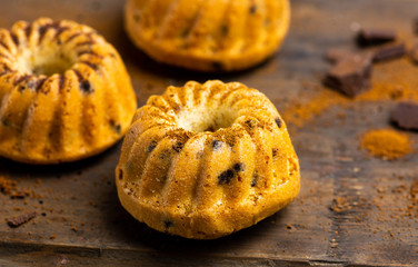 Mini kuglof pastry with cinnamon and apple