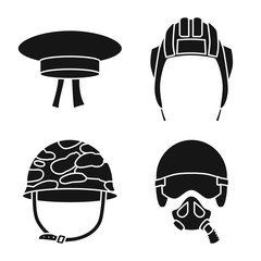 Vector illustration of traditional and armed icon. Collection of traditional and officer stock symbol for web.