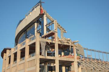 Demolición de Estadio de fútbol Atlético Madrid