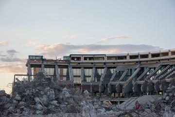 Campo de fútbol Atlético Madrid en demolición