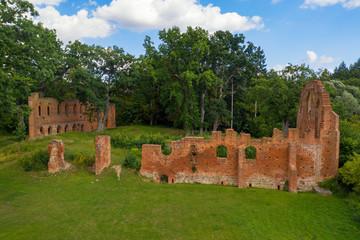 Ruine eines Klosters im Ort Boitzenburg in der Uckermark