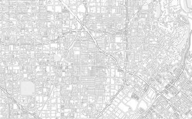 Santa Ana, California, USA, bright outlined vector map