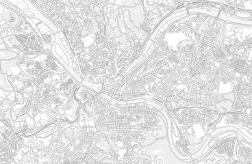 Pittsburgh, Pennsylvania, USA, bright outlined vector map