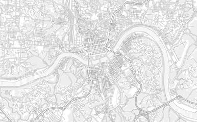Cincinnati, Ohio, USA, bright outlined vector map