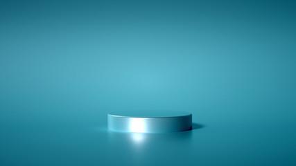 Minimalism abstract background, pedestal. 3d illustration, 3d rendering.