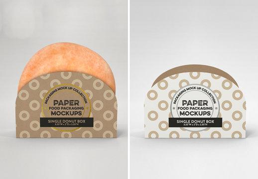 Single Pastry Box Mockup