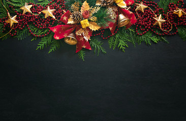 Noel or Christmas greeting card template