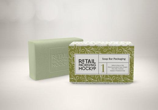 2 Soap Bars Packaging Design Mockups