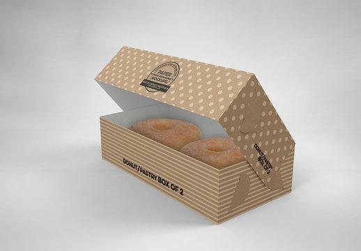 Small Open Pastry Box Mockup