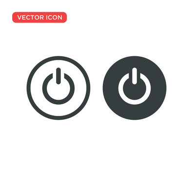 Power Button Icon Vector Illustration Design