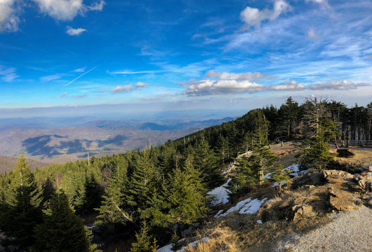 The view from Mount Mitchell, NC
