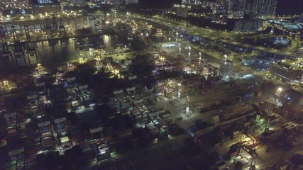 Fotomurales - Kwai Tsing Container Terminals from drone view