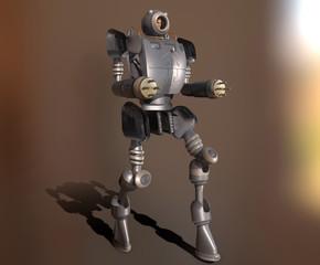 3d illustration of a manned war robot