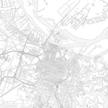 Savannah, Georgia, USA, bright outlined vector map