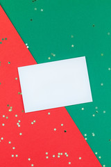 New Year or Christmas greeting letter mockup