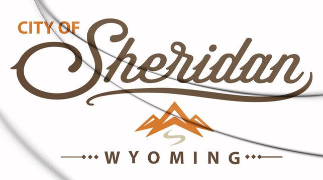 3D Emblem of Sheridan (Wyoming), USA. 3D Illustration.