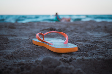 Sandal in the beach
